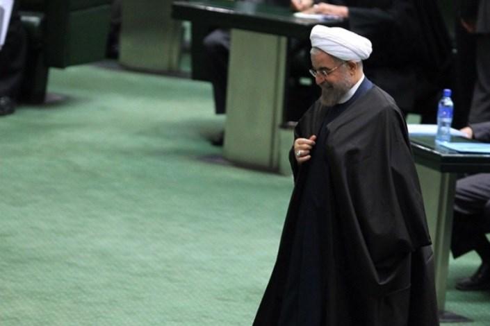 روحانی در صحن مجلس