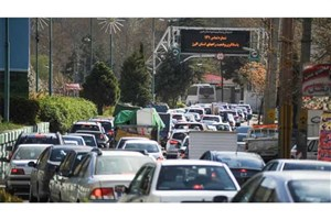 ترافیک نیمه سنگین در محور کرج- چالوس