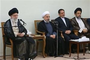 رئیسجمهور و اعضای هیأت دولت  با رهبر انقلاب دیدار می کنند