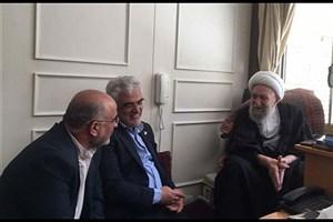 سرپرست دانشگاه آزاد اسلامی با آیات عظام مظاهری و ناصری دیدار کرد