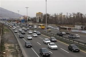 ترافیک نیمه سنگین در آزاد راه کرج - قزوین