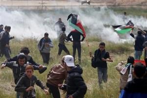 نظامیان صهیونیست به تظاهرات فلسطینیان حمله کردند