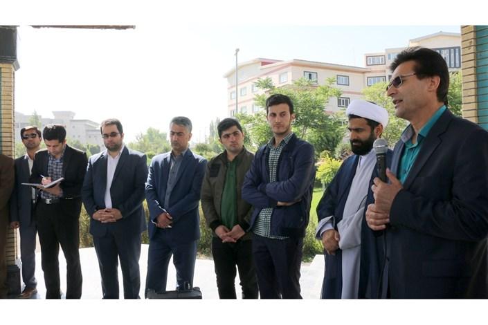 مراسم بدرقه نخبگان فرهنگی دانشگاه آزاد اسلامی استان اردبیل به اردوی آموزشی- تشکیلاتی حیات طیبه