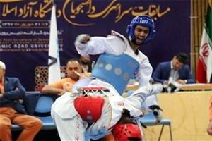 نفرات برتر مسابقات سراسری تکواندو پسران دانشگاه آزاد اسلامی معرفی شدند