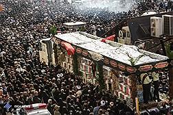 مراسم تشییع پیکر مطهر 135 شهید گمنام در تهران