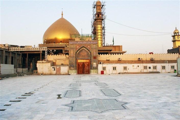 حرم مطهر امامین عسکریین(ع) با سنگهای ایرانی مفروش شد
