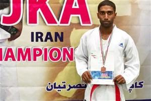 درخشش دانشجوی واحد بندرعباس در مسابقات کاراته قهرمانی کشور