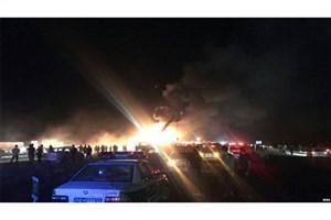 جزئیات تصادف مرگبار اتوبوس تهران - کرمان با تانکر سوخت
