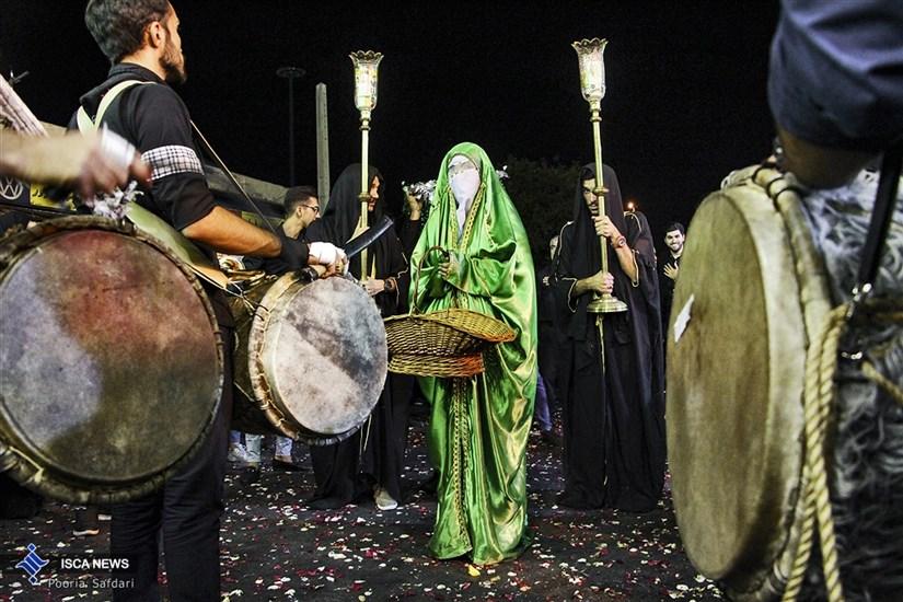 اجتماع دسته های عزاداری امام حسین(ع) در خیابان های تهران