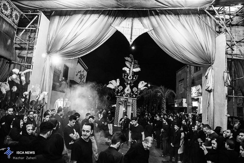 شب عاشورا در محله اسکندری تهران