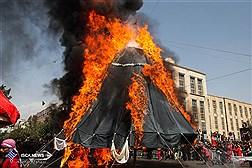 نمایش آیینی خیمه سوزی ظهر عاشورا - بازار تهران