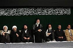 آخرین شب مراسم عزاداری امام حسین(ع) در حسینیه امام خمینی(ره)