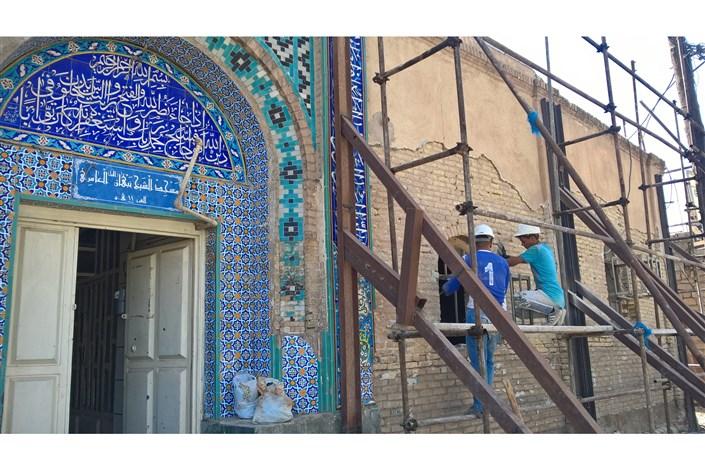 مرمت مسجد عامری اهواز