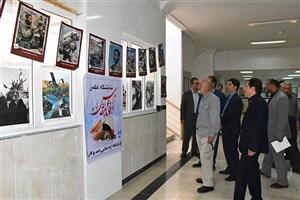 بازدید فرمانده سپاه از نمایشگاه کتاب دانشگاه آزاد واحد بوکان