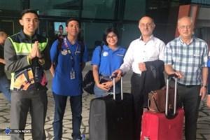 نخستین گروه کاروان اعزمی ایران وارد جاکارتا شد