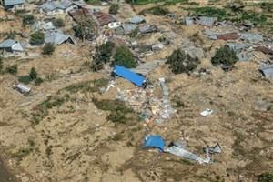 نابودی جزیره اندونزی توسط سونامی و زلزله