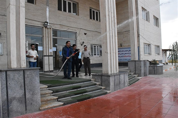 به مناسبت آغاز سال تحصیلی جدید مانور مقابله با حادثه در دانشگاه آزاد اسلامی واحد بوکان برگزار شد