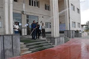 مانور مقابله با حوادث طبیعی در دانشگاه آزاد اسلامی واحد بوکان برگزار شد