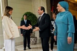 لباس نامتعارف ملانیا در مصر خبرساز شد