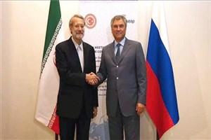 علی لاریجانی با رئیس دومای دولتی فدراسیون روسیه دیدار کرد