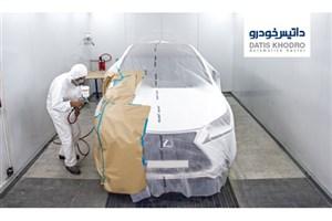 نقاشی حرفه ای جهت تعمیر خودروهای ولوو