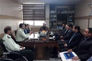 دیدار هیات رئیسه واحد اهر با فرمانده نیروی انتظامی و مسئولین قضایی شهرستان