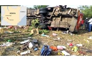 براثر واژگونی اتوبوس در کنیا 50 نفر کشته شدند