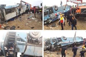 ۲۴ نفر از مصدومان حادثه تصادف اتوبوس دانش آموزان ترخیص شدند