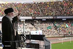 اجتماع جهادگران بسیجی در ورزشگاه آزادی با حضور رهبر معظم انقلاب