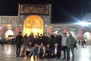 کاروان زیارتی دانشجویان دانشگاه آزاد اسلامی واحد اردبیل در مشهد مقدس