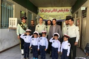 کودکان مهدکودک  به دیدن نیروی انتظامی رفتند+عکس