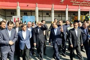 افتتاح ۲۷۰۰ میلیارد ریال پروژه زیربنایی و خدماتی در فرودگاه مهرآباد