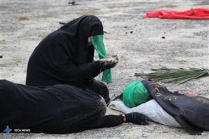 اجرای نمایش خیابانی «اینجاست کربلا » در دانشگاه آزاد اسلامی واحد رشت