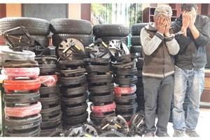 باند5 نفره سارقان لوازم خودرو دستگیر شدند