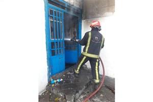 کارگاه کمک فنرسازی در تبریز آتش گرفت
