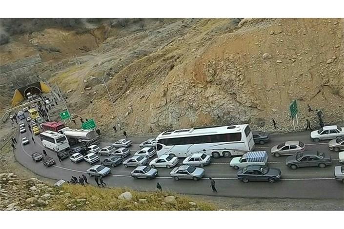 ترافیک در جاده ایلام -مهران