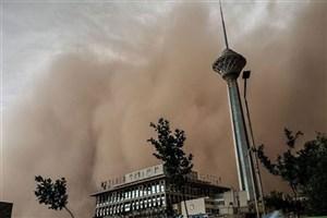 خیزش گرد و خاک و افزایش موقتی غلظت ذرات معلق  درتهران/ امروز و فردا ذرات معلق پایتخت غلیظ میشوند