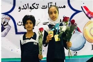 درخشش دانش آموز دبستان دخترانه سما بوشهر در لیگ تکواندو کشور