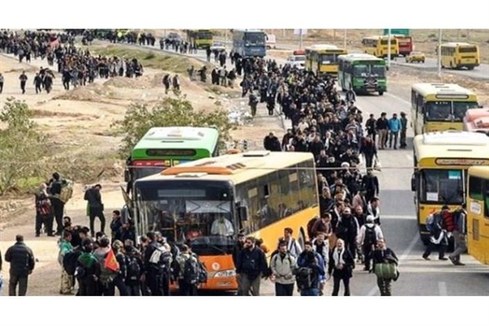 توقف اتوبوسهای زائران در مرز مهران