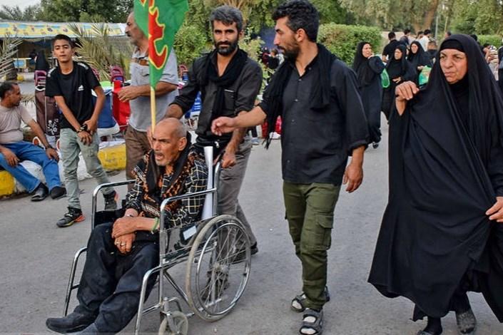 تامین ویلچر برای زائران حسینی