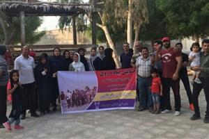 همایش پیاده روی خانواده در ساحل خلیج فارس برگزار شد