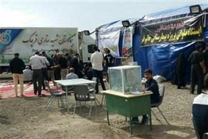 ارائه خدمات واحد سیار بیمارستان شهید ستاری قرچک در اربعین