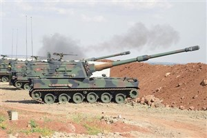 ترکیه مواضع نیروهای متحد آمریکا در سوریه با بمباران کرد
