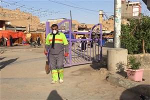 خانه امام علی (ع) توسط پاکبانان شهرداری تهران غبارروبی شد