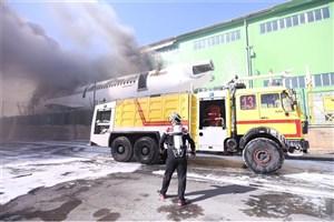 لاشه هواپیمای اسقاطی در فرودگاه امام آتش گرفت+ عکس