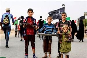 قدردانی دانش آموزان ایرانی  از نوجوانان عراقی برای خدمات مسیر پیاده روی اربعین