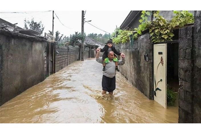وقوع سیلاب در استان های شمالی