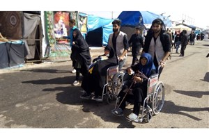 طرح خدمات رسانی با ویلچر توسط بسیج  واحد دزفول در مرز چذابه