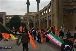 راهپیمایی دانشجویان دانشگاه شریف برگزار شد + عکس