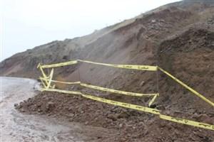 شکستن لوله  اصلی  گاز  بر اثر رانش وسیع کوه در گیلان